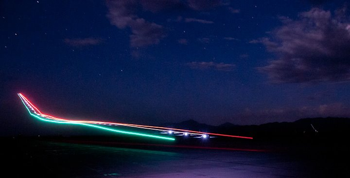 A Drone Landing At Night
