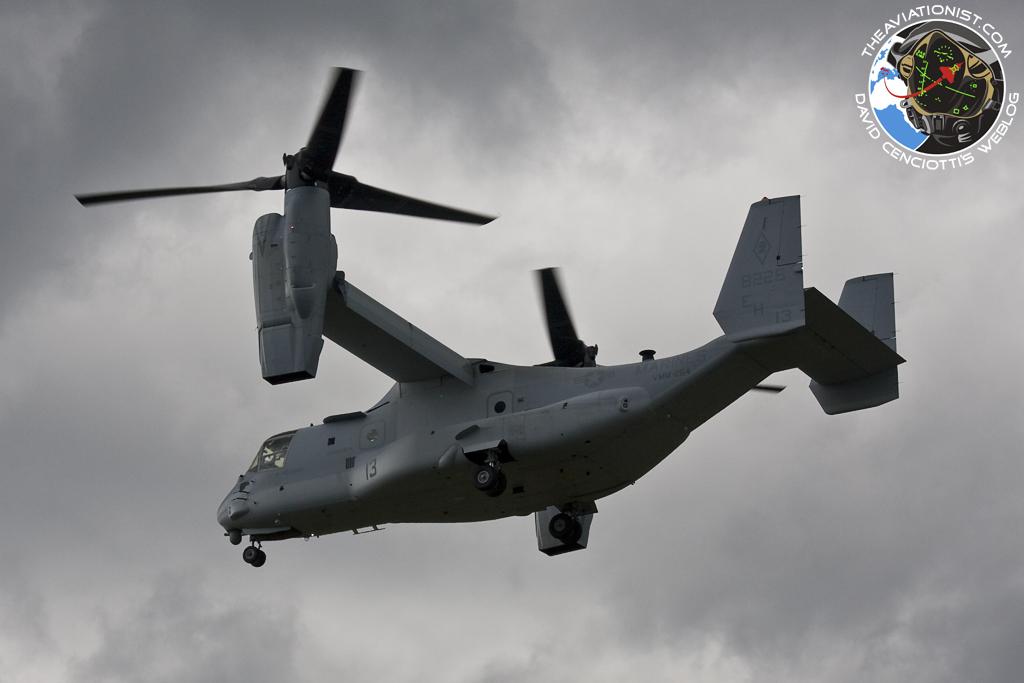 The Aviationist 187 Mv 22b Osprey Tilt Rotor Aircraft Makes