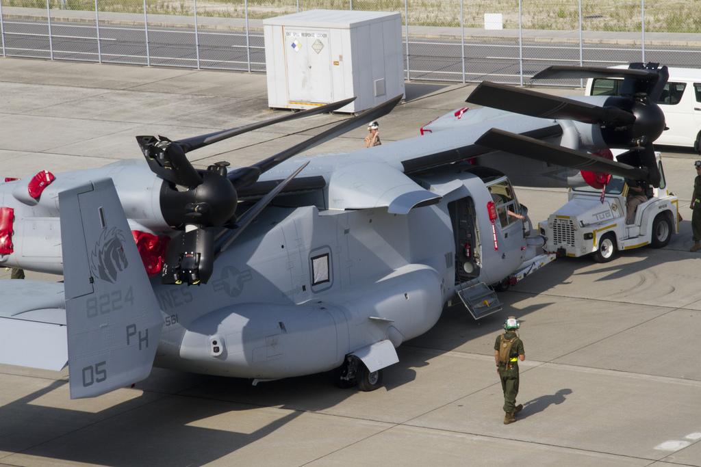 The Aviationist First MV 22 Osprey Tilt Rotor Aircraft