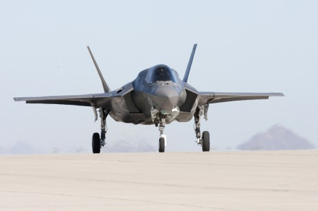 F-35B grounded