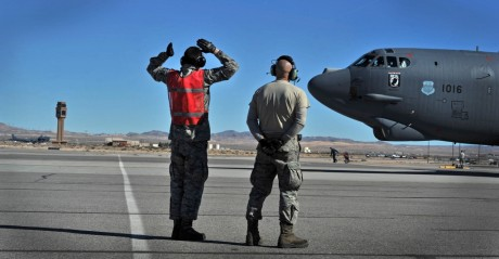 20th BS flies over Vegas during Red Flag