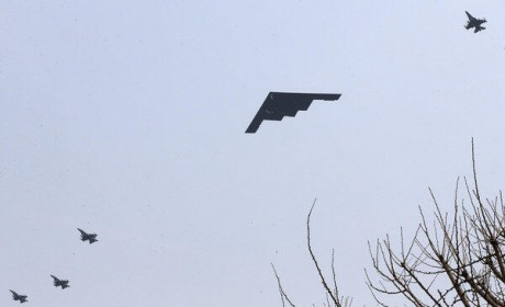 B-2 over Korea