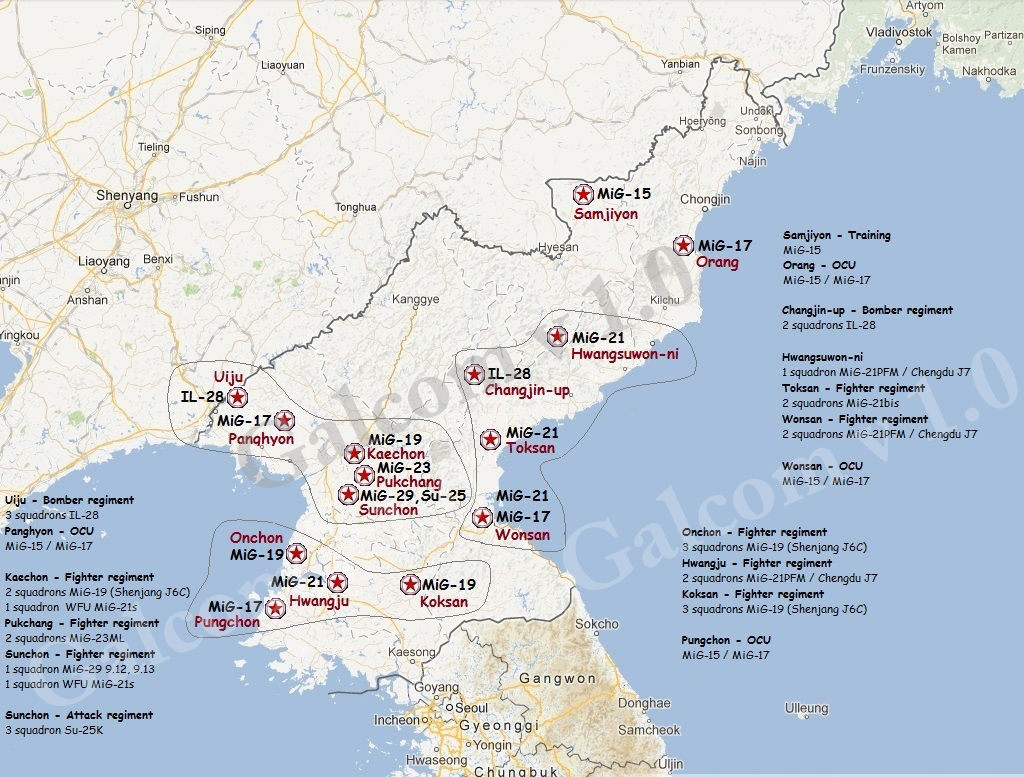 The aviationist map heres the north korean air force order of north korea sciox Choice Image