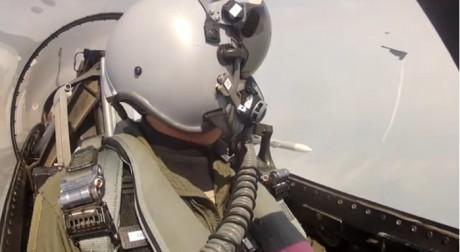 F-16 escorting B-2