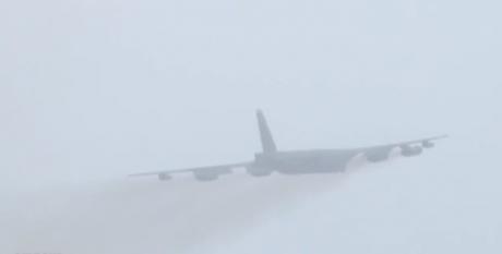 B-52 takeoff fog