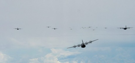 Largest C-130 formation ever flown