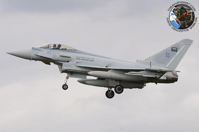 RSAF Typhoon landing