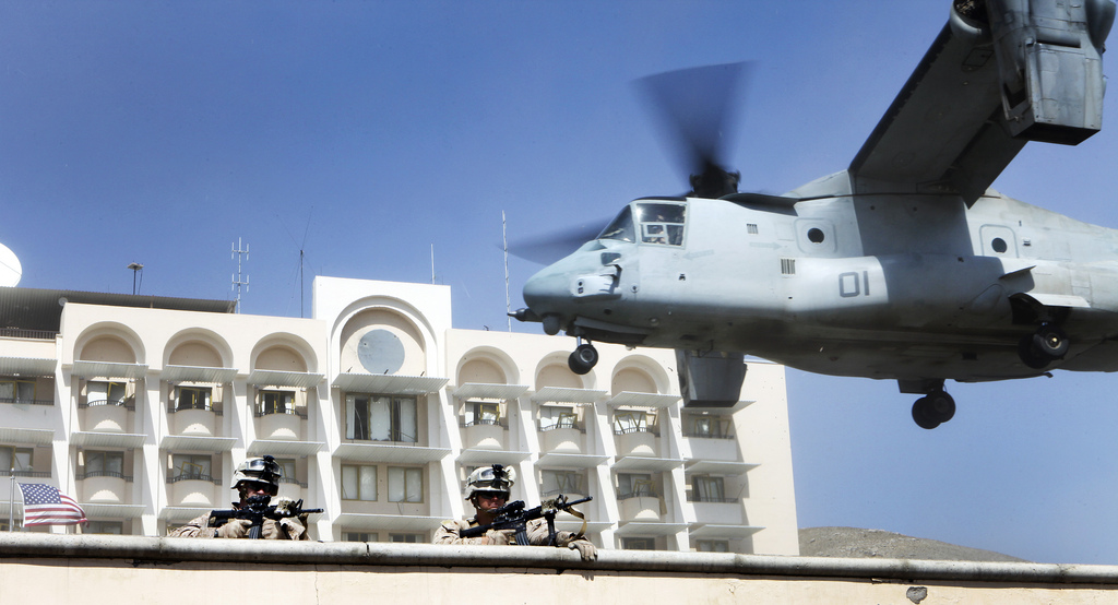 The Aviationist » [Photo] MV-22 Osprey tilt-rotor aircraft supports ...