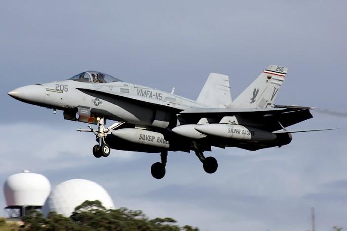 VMFA-115 landing
