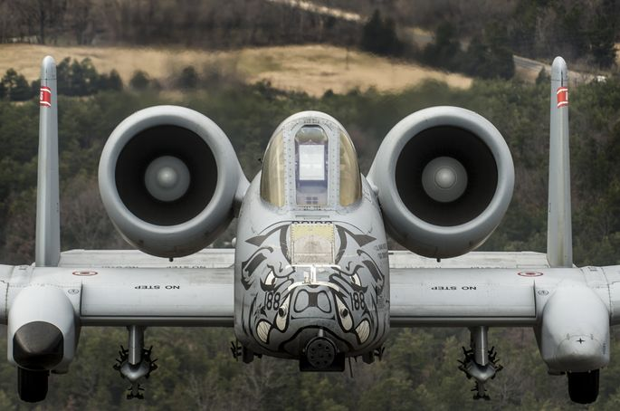 Fearsome four-ship: 188th Warthogs train at Razorback Range