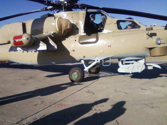 Iraqi Mi-28 side view