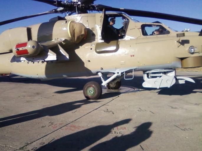 Iraqi Mi-28 side view