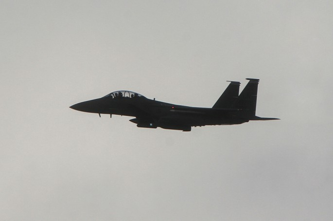 Live bomb F-15E pass