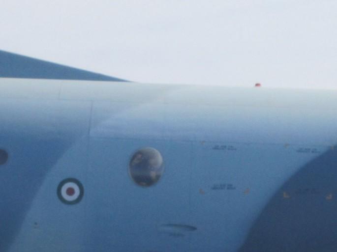 P-3F intercepted window