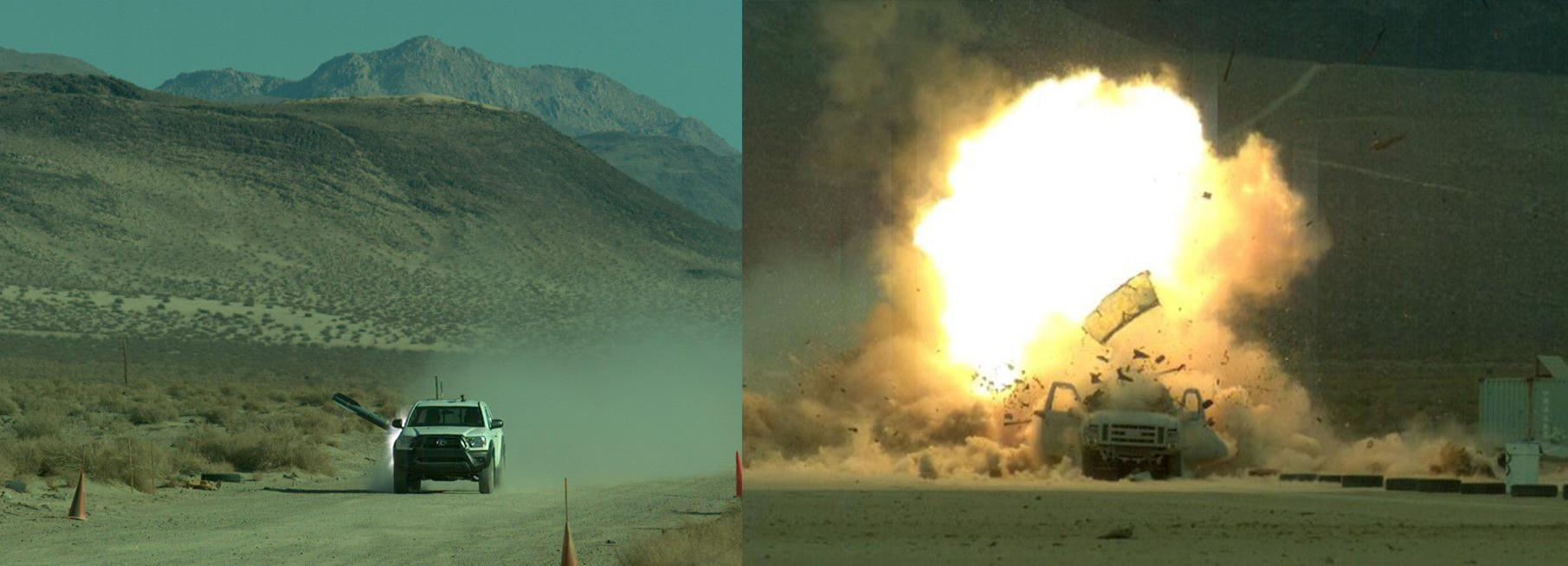 This Is The Effect Of A Brimstone Missile Launched By Reaper Drone On SUV