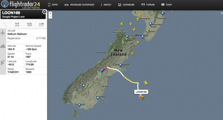 Project Loon tracking