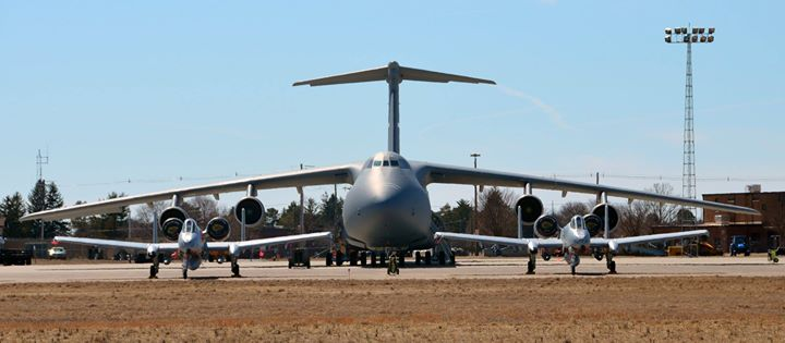 the aviationist size matters two a 10s and a c 5 on the ramp at