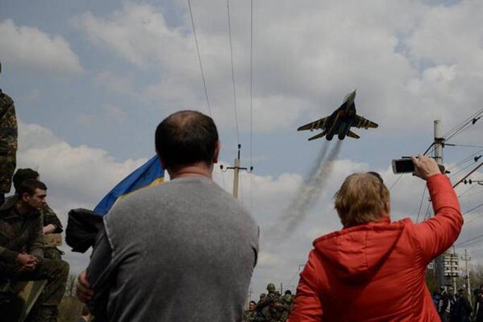 Mig-29 equipo de la exhibición de Ucrania 2