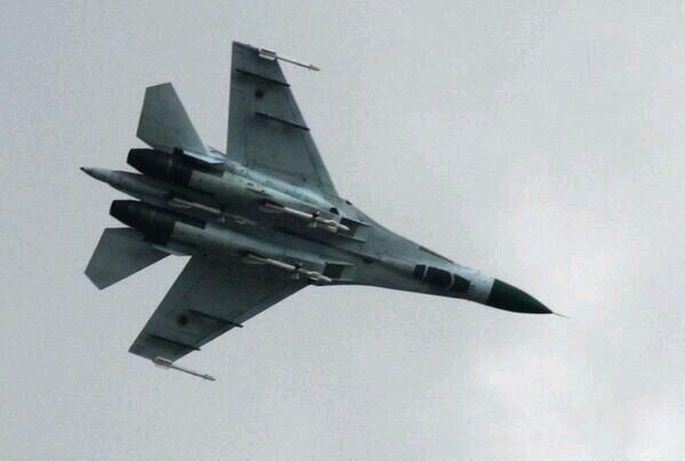Su-27 derribado Ucrania