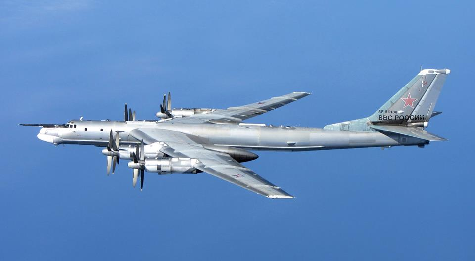 Nice Air To Air Image Of Russian Tu 95 Bear Bomber Intercepted Off
