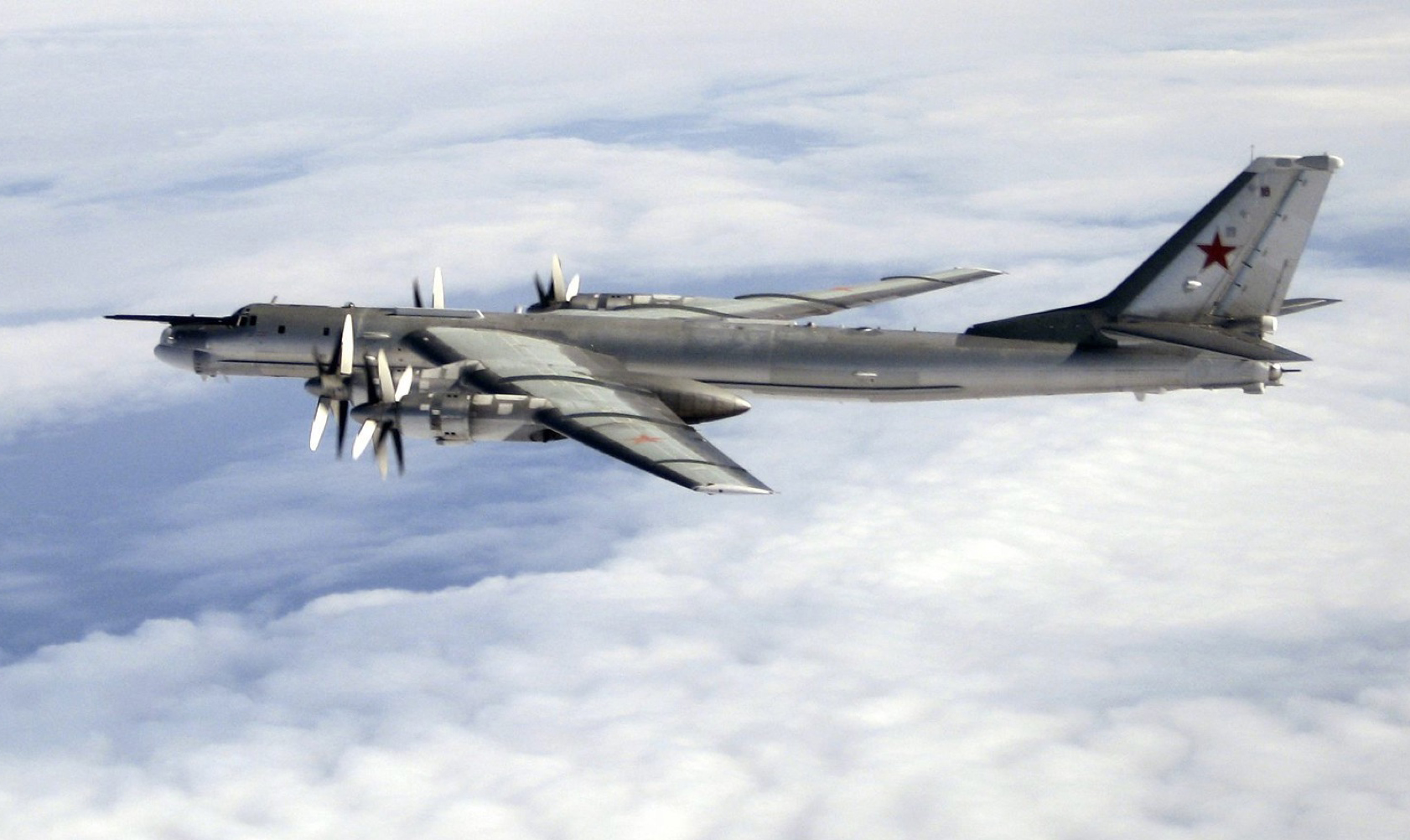 Russian Tu 95 Bomber Launches Six Cruise Missiles During Exercise