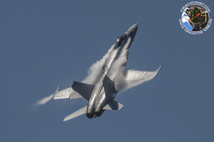 F-18 fast climb