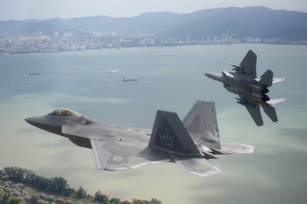 Two Russian Mig-31 fighter jets were intercepted by US F-22 ...