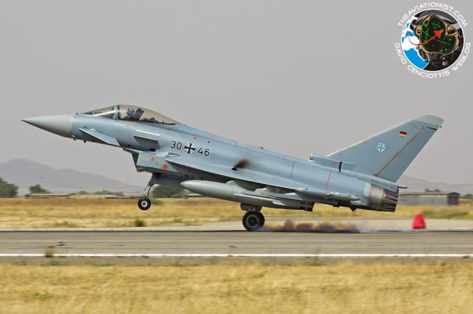 GAF Typhoon landing
