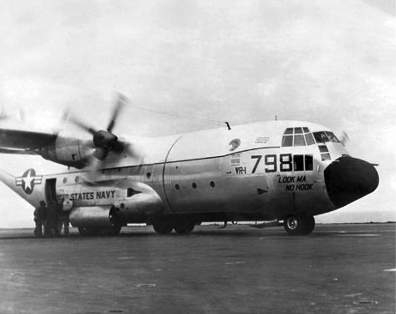 C130 Hercules on an Aircraft Carrier!!