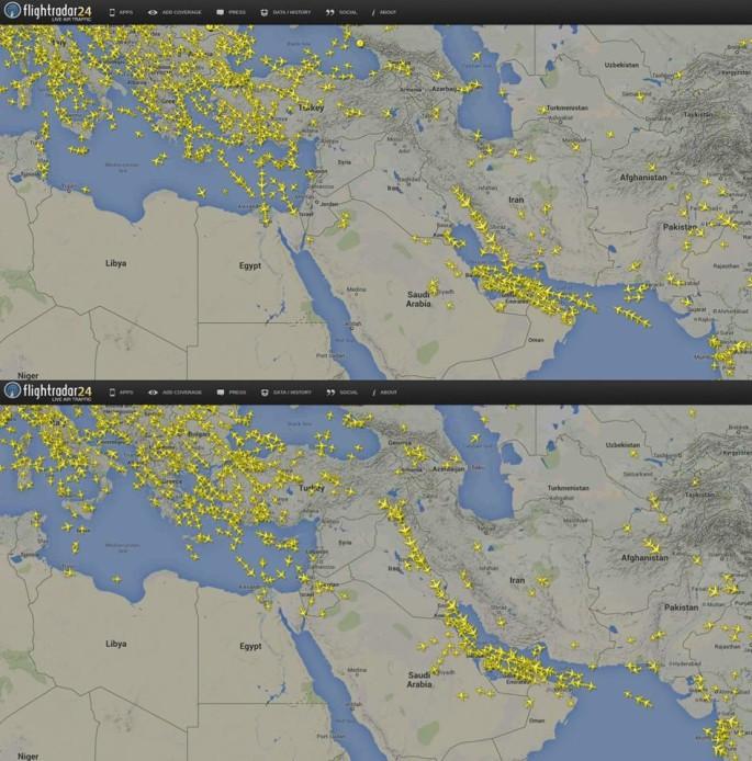 FR24 Iraq flight ban