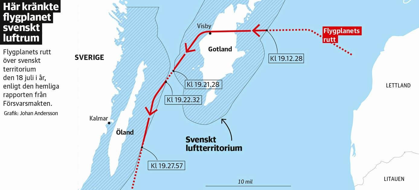 The Aviationist US Spyplane Violated Swedish Airspace To - Us map sweden