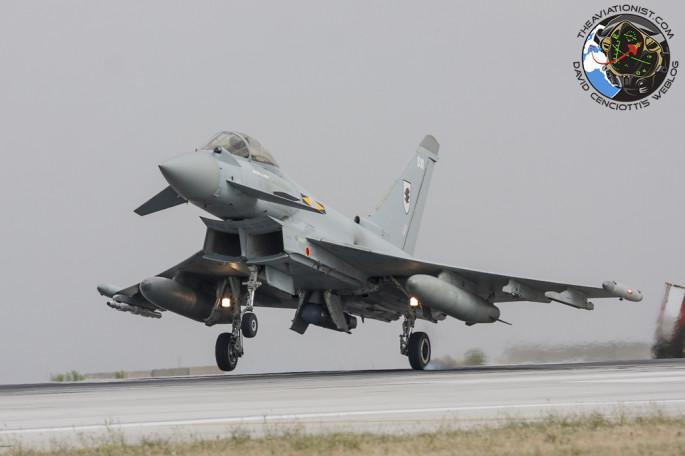 Typhoon FGR4 one wheel touchdown