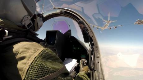 Rafale from cockpit