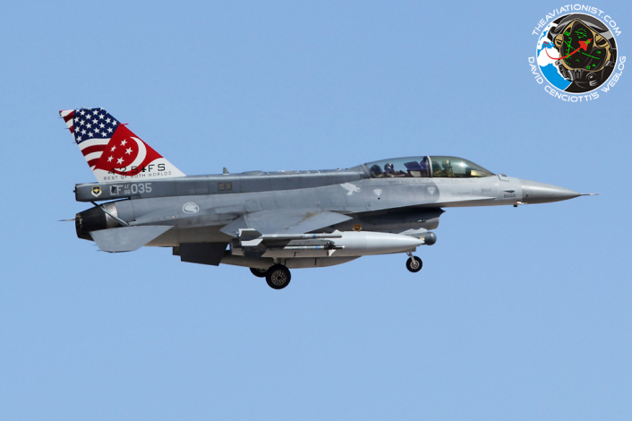 96-5035:LF. F-16D. 425FS. Republic of Singapore Air Force. Nellis AFB. 17.07.2014