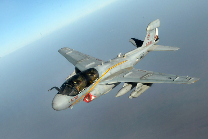 US Navy EA-6B Prowlers supporting operations against ISIL