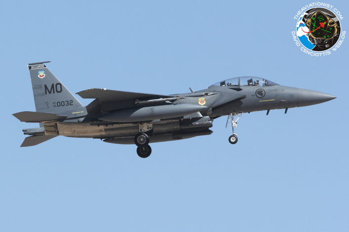 F-15SG. 05-0030:MO 428FS. Rep SNG AF. recovers to Nellis 17.07.2014