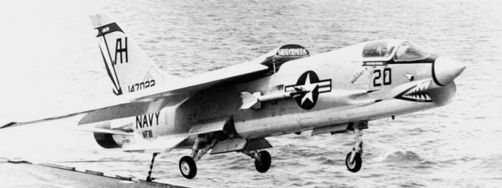 F-8C_VF-111_over_USS_Intrepid_(CVS-11)_1967
