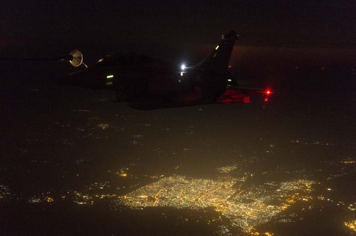 Rafale refuel Baghdad