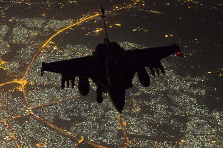 Rafale refueling over Baghdad