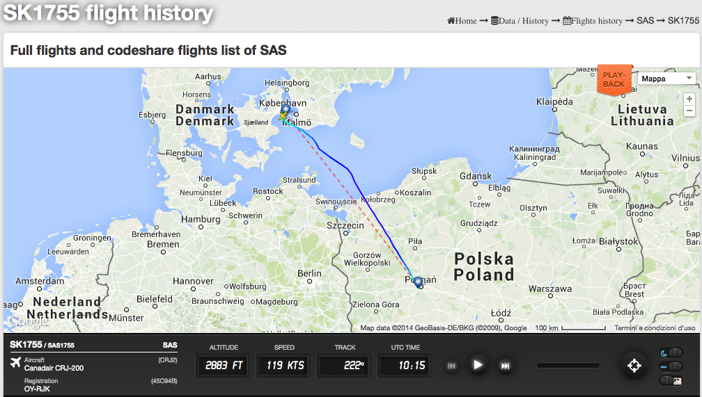The Aviationist Russian Spyplane Nearly Collided With Airliner - Sweden radar map