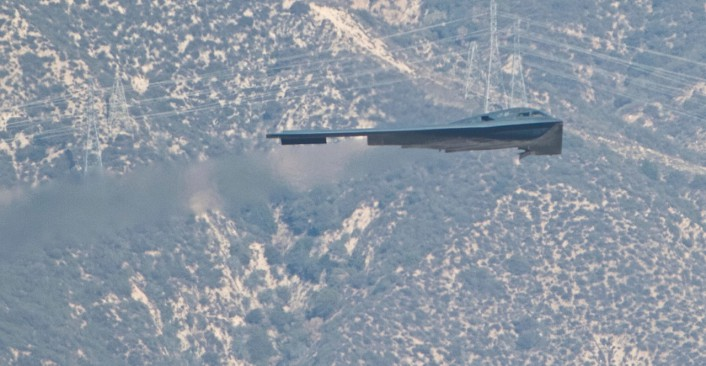 B-2 over the Rose Bowl 1