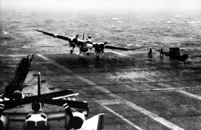 S-2 making a foul weather landing