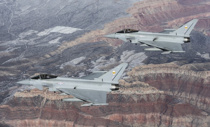 Typhoons over Gran Canyon close
