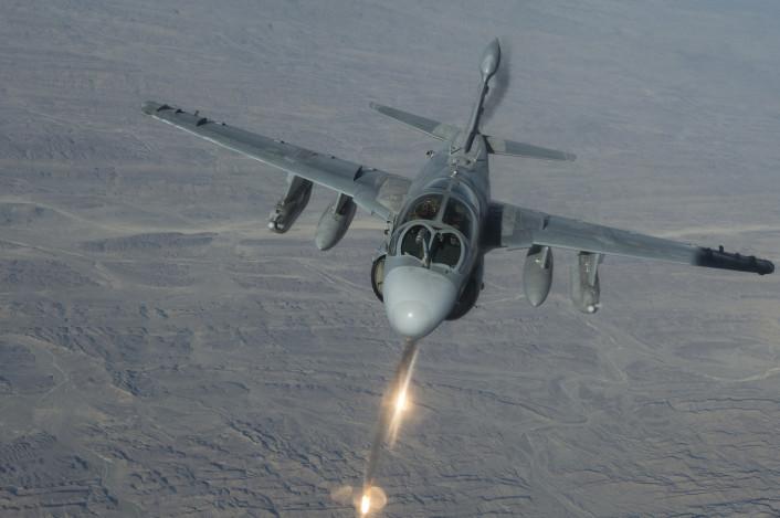 EA-6B flares