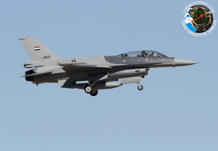 IAF 1601. F-16D-52-CF. 156FS. IRAQ Air Force. Tucson 06.02.2015
