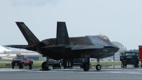 F-35 damaged