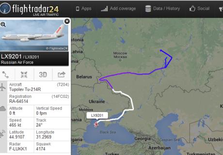 Tu-214R mission around Ukraine