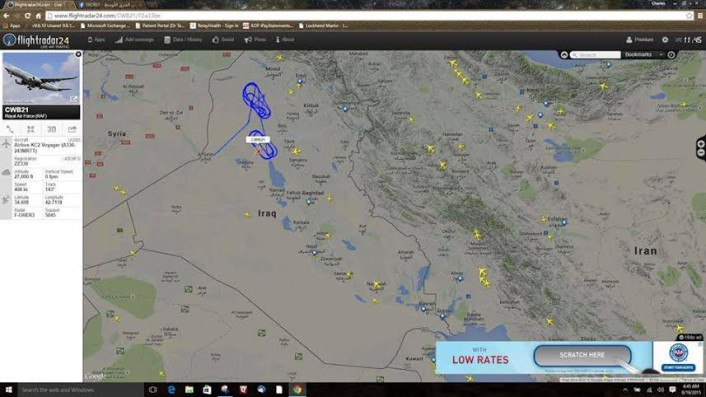A330 over Iraq