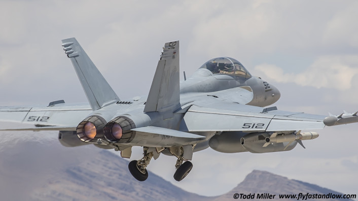 EA-18G Growler VAQ-138 Yellow Jackets on launch for Red Flag 15-3 sortie.
