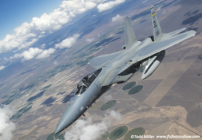 F-15C 159 FW, 122 FS US ANG NAS JRB New Orleans.  In Flight Refueling from KC-135 by the 92 ARS Fairchild AFB during Red Flag 15-3.